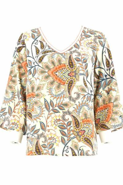 Vlotte shirt met driekwart mouw