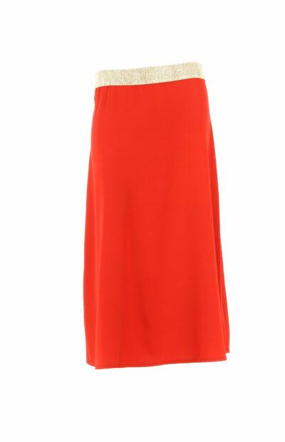 Rode rok in A-lijn