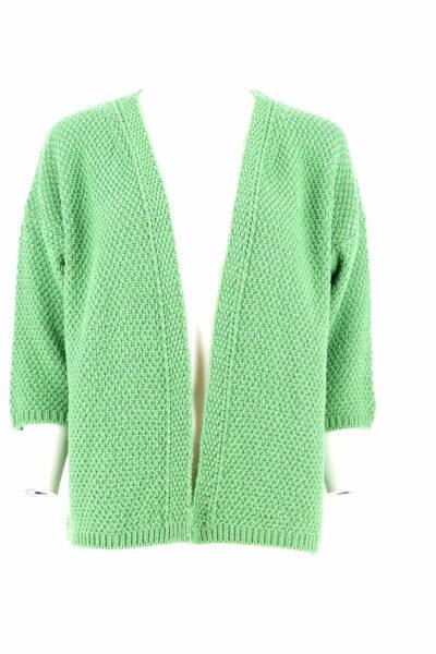 Basic groen golfje met driekwart mouw.