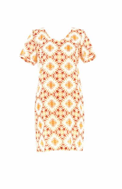 Vlot linnen kleedje met V-hals