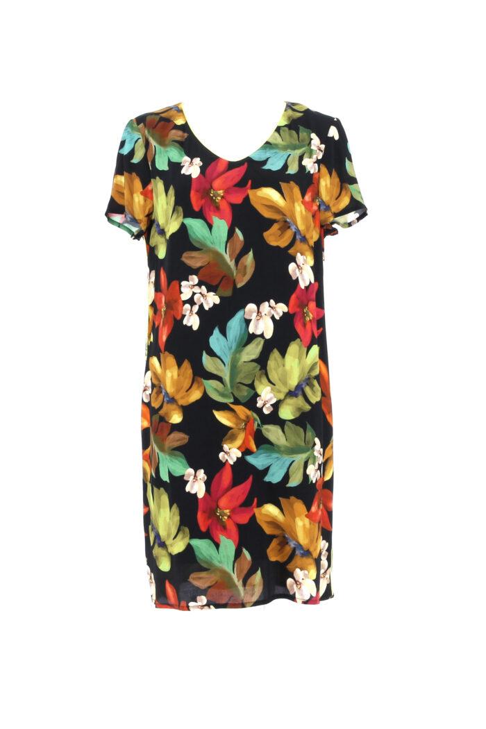 Gevoerd kleedje met bladeren-print signe nature