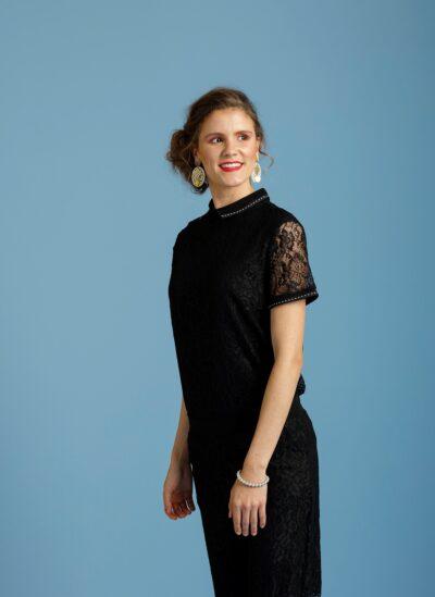 Zwart trendy shirt only-m