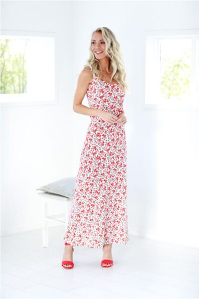 zomerkleedje met bandjes sophia perla