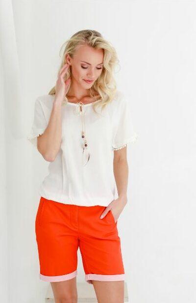 Basic ecru shirt sophia perla