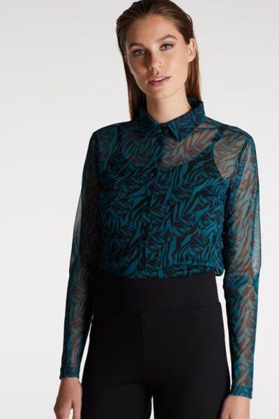blouse van mesh juffrouw jansen