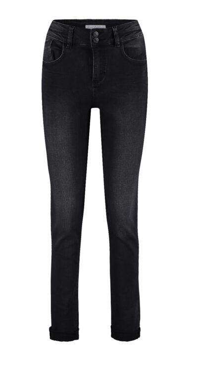 skinny jeans red button