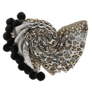 sjaal met pomponnetjes signe nature