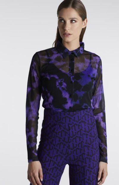 blouse tie-dye dessin juffrouw jansen