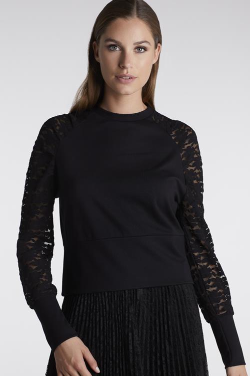 sweater bloemenkant juffrouw jansen