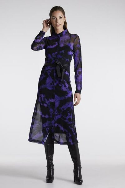 Lange jurk van mesh