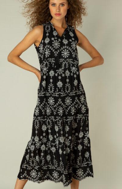 mouwloze jurk yest
