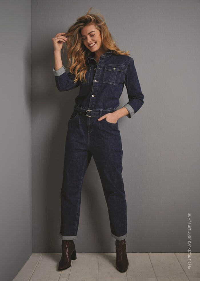 jumpsuit red button